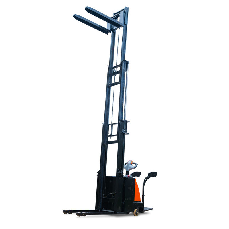 5000mm Triple Mast 2000kg Walk Behind Powered Pallet Stacker