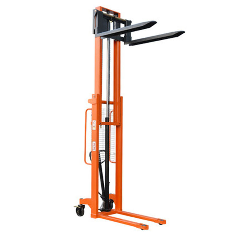 3M Secure 280mm Double Mast 1T Manual Forklift Stacker Trolley