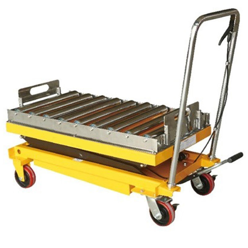#304 Stainless Rollers Low Profile 350kg Pallet Scissor Lift Platforms