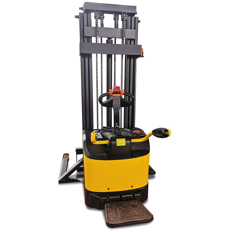 Rider Straddle 1500kg 3310lb Double Deck Electric Pallet Stacker