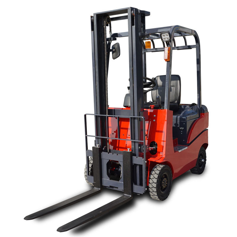 CE 2000kg Adjustable Four Wheel Manual Battery Operated Forklift