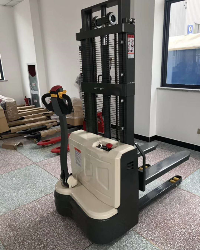 Compact 1070mm 1600KG Pedestrian Pallet Lift Stacker